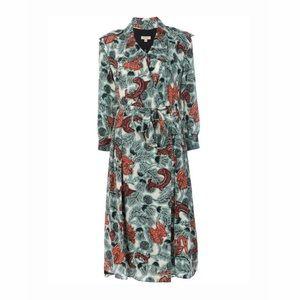 NWT Burberry Floral Beasts Silk Wrap Dress